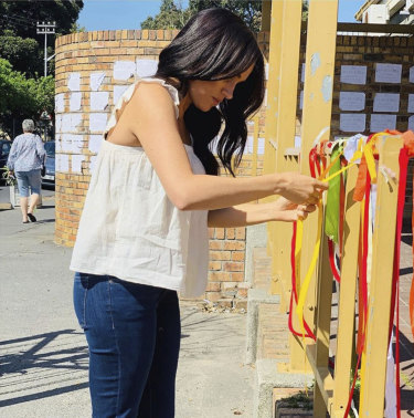 "The Duchess of Sussex visits the memorial of a murdered South African student as a ""personal gesture""."