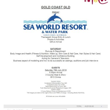 The itinerary for the Gold Coast final.