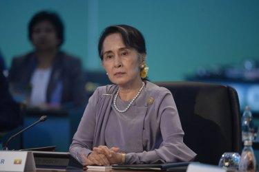 Myanmar's leader Aung San Suu Kyi.
