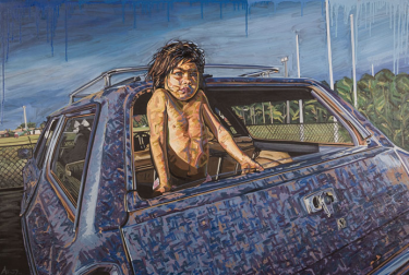 Antonia Tatchell's artwork Boy in Holden won the Clayton Utz Art Award in 2011.