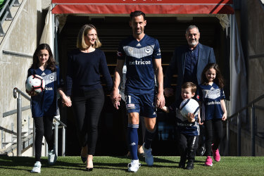 Fearless leader: Melbourne Victory captain Carl Valeri is also retiring at the end of the finals series.