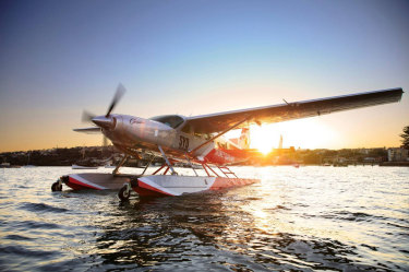 One of Sydney Seaplanes' Cessna Caravan aircraft that will likely be the first to be all-electric in the company's fleet.