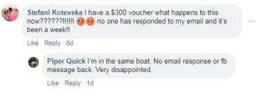 A Shoes of Prey customer takes to Facebook.