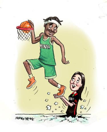 Australian Liz Mills has worked wonders with the Kenyan men's basketball team.