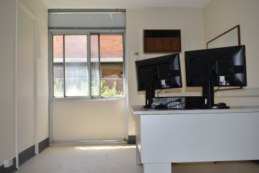 One of two testing rooms at the coronavirus clinic at 48 Murray Street.