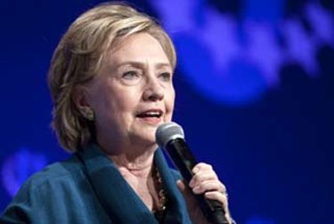 Taking on a new role: Hillary Clinton