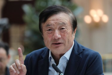 Huawei's founder said the Chinese telecom giant's revenue will be $30 billion ($43.7b) less than forecast.