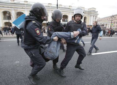 Thousands were detained by police.