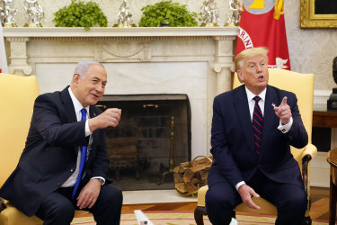 President Donald Trump meets with Israeli Prime Minister Benjamin Netanyahu in the Oval Office in September.
