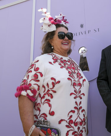 Australia's richest woman, Gina Rinehart, brought some boldness to the Birdcage.