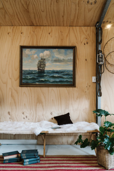 Interior of the cottage, My Sister & The Sea, at Marion Bay on southern tip of Yorke Peninsula, South Australia.