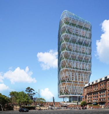 A render of Atlassian's new headquarters in Sydney.