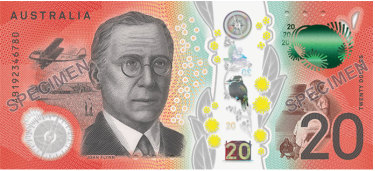 The Reverend John Flynn remains on the serial number side of the new $20 banknote.