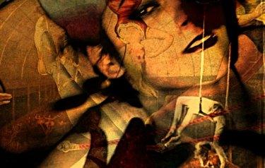 Trapeze Girl, Bryan Dawe, detail.