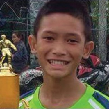 Mongkol 'Mark' Boonpiam is understood to be the first boy rescued.