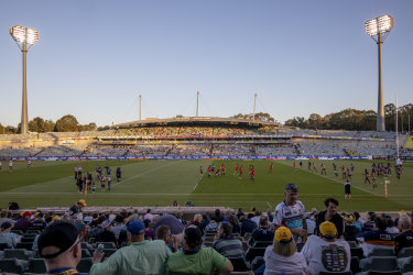 There were 8500 at the Brumbies' first game of the year.