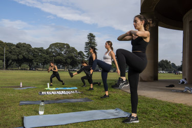 Sydney's Centennial Park during the lockdown this month. The microbial activity beneath the surface of green spaces worldwide has turned up a few surprises.