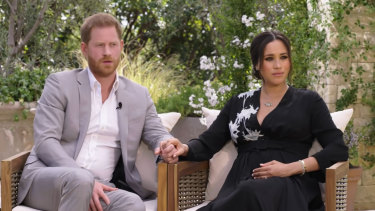 The Duke and Duchess of Sussex in their interview.