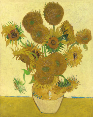 Vincent Van Gogh's all-yellow Sunflowers (1888), which is one of the two originals he painted in Arles.