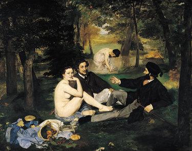 Edouard Manet's Le Dejeuner sur l'Herbe (Luncheon on the grass).