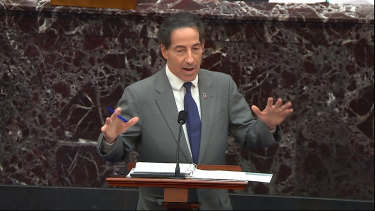 "House impeachment manager Jamie Raskin said that Trump ""assembled, inflamed and incited"" the January 6 riot at the Capitol."