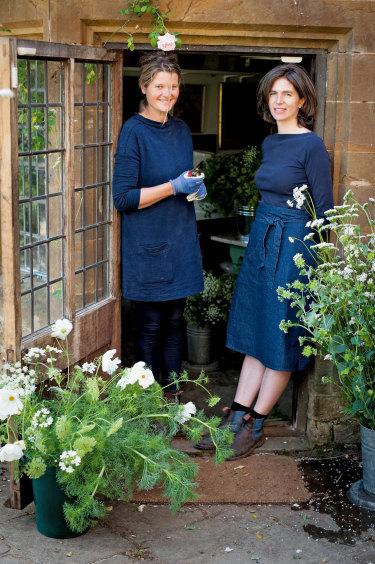 Bridget Elworthy and Henrietta Courtauld at Wardington Manor in Oxfordshire.