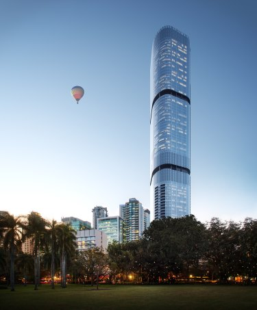 The yet-to-be completed Brisbane Skytower at 222 Margaret Street.