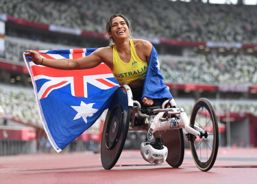 Madison de Rozario won her second Paralympic gold medal on Sunday.