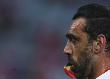 Adam Goodes declined the AFL's offer of a place in their Hall of Fame.
