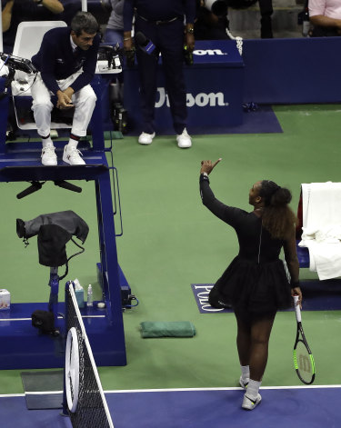 """Serena Williams: """"I don't cheat! I have never cheated in my life! I have a daughter and I stand for what's right."""""""