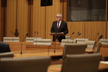 Andrew Wilkie speaking in Parliament a short while ago.