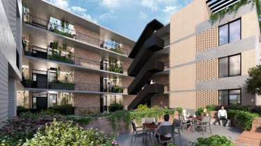 It will feature a landscaped courtyard and publicly accessible gardens.