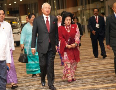 Former Malaysia Prime Minister Najib Razak with his wife Rosmah Mansor.