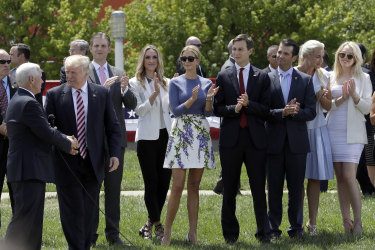 Vanessa Trump can be seen at far-right of the picture.