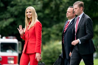 Dan Scavino with Ivanka Trump and and Eric Trump.