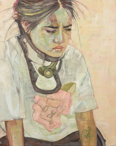 Pat Hoffie was highly commended for her portrait of her daughter Visaya in a c-collar.