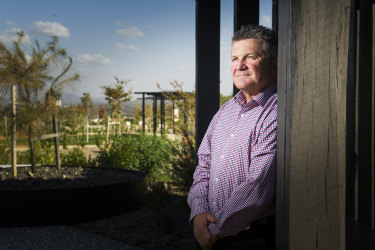 Executive manager of the National Arboretum Canberra Scott Saddler