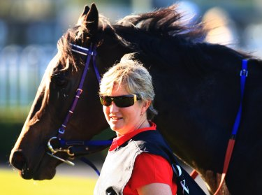Sue Grills has a strong chance in the feature race at Muswellbrook with Under The Thumb.
