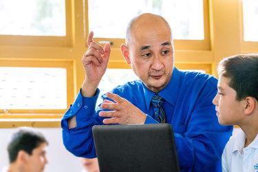 Merrylands Public School principal Jon Goh.