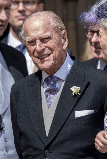 Prince Philip at the wedding of Lady Gabriella Windsor in May 2019.