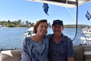 Greg and Jennifer Ferguson said the boat allows them to gather as a family and sail around WA.