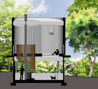 A small dwelling designed by QUT architecture student Natasha Kooymans.