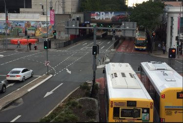 The block of land on Grey Street on the top left of the image is being bought to allow Brisbane Metro to go ahead.