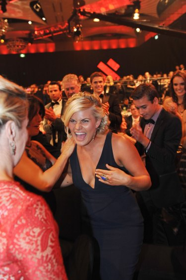 Bonnie Sveen, who won the most popular new talent Logie in 2014 for her role in
