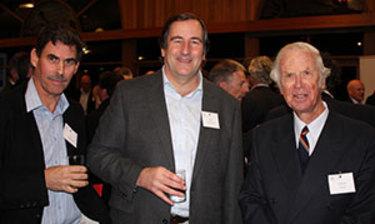 Alan Sandbach, centre, and colleagues at a Scotch College reunion.