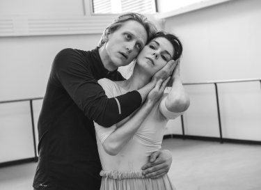 Natalia Osipova in rehearsals with fellow ballet superstar David Hallberg.