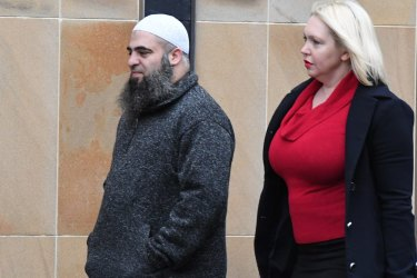 Jihadi recruiter Hamdi Alqudsi was found guilty by a jury in 2016, pictured with Burrows.