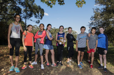Eden Cowdery (holding a bear) has inspired other students to do the City2Surf including Misha Dhawan, Cassie Tinyow, Sophie Wang, Raquel Quintal,  Ollie Webber, Josh Riddle, Angus Till and Oscar Harvey.