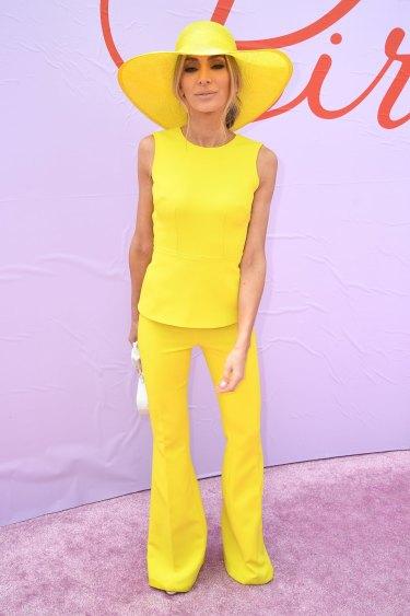 Nadia Bartel shone in yellow.