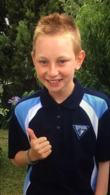 Aiden Robinson is missing in the Traralgon area.